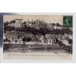 37 - Chinon - ruines du château bâti par Thibault le vieil - Comte de blois...