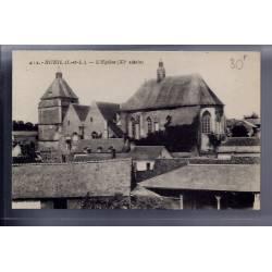 37 - Bueil - l' église XIeme siècle - Non voyagé - Dos divisé...
