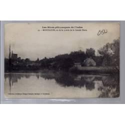 37 - Montbazon vu de la prairie de la grande Illette - Voyagé - Dos divisé...