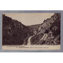 39 - Salins-les-Bains - Route et ligne de Salins à Mouchard - Non voyagé - ...