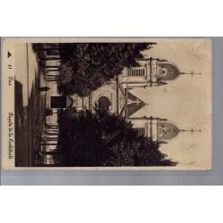 40 - Dax - façade de la Cathédrale - Voyagé - Dos divisé...