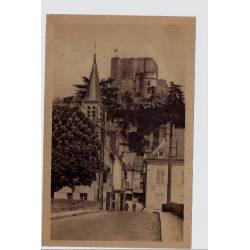 41 - Montrichard - Rue du pont - le château et l' église - Voyagé - Dos div...