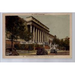 42 - Saint-Etienne - Le Palais de Justice - Voyagé - Dos divisé...