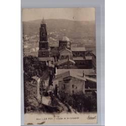 43 - Le Puy - Clocher de la Cathédrale - Voyagé - Dos divisé...