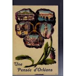 """45 - Orléans - Carte """" une pensée d'Orléans avec différentes vues de la vil..."""