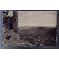 46 - Autoire - le château des Anglais et le village - Non voyagé - Dos divi...