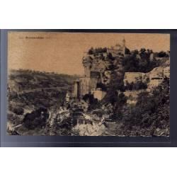 46 - Rocamadour - vue de la ville - Voyagé - Dos divisé...
