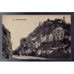 46 - Rocamadour - Vue d'une partie de la ville - Non voyagé - Dos divisé...