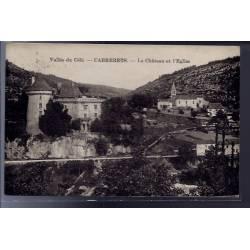 46 - Cabrerets - Vallée du Célé - Le château et l' église - Voyagé - Dos di...