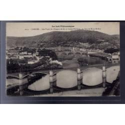46 - Cahors - Les ponts du chemin de fer et Louis-Philippe - en face le Mon...