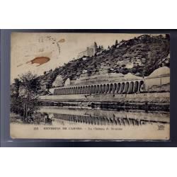 46 - Environs de Cahors - le château de Mercuès - Voyagé - Dos divisé...