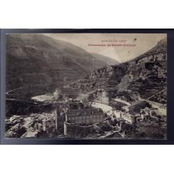 48 - Gorges du Tarn - Panorama de Sainte-Enimie - Non voyagé - Dos divisé...