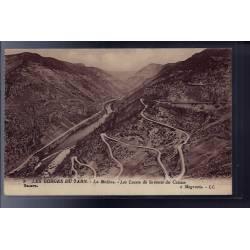 48 - Les Gorges du Tarn - La Malène - les lacets de la route du Causse - No...