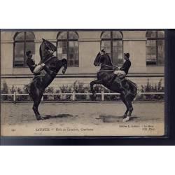 49 - Saumur - Ecole de cavalerie, courbettes - Non voyagé - Dos divisé...