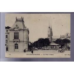 51 - Châlons-sur-Marne - La place Godard - Voyagé - Dos divisé