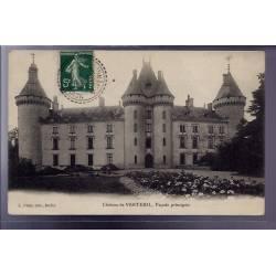 53 - Verteuil - le château - façade principale - Voyagé - Dos divisé