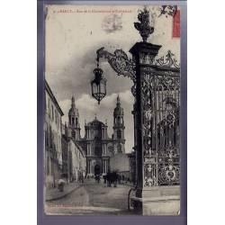 54 - Nancy - rue de la Constitution et Cathédrale - Voyagé - Dos divisé