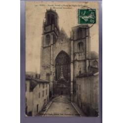 54 - Toul - Façade, portail et parvis de l'église St-Gengoult - Voyagé - Dos