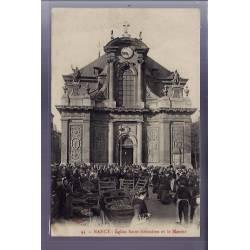 54 - Nancy - Eglise Saint-Sébastien et le marché - Voyagé - Dos divisé