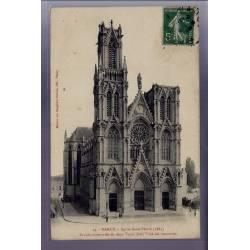 54 - Nancy - Eglise Saint-Pierre - Façade surmontée de deux tours dont l'une