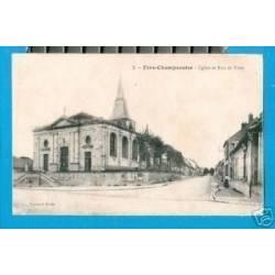 51 - FERE-CHAMPENOISE - EGLISE ET RUE DE VITRY