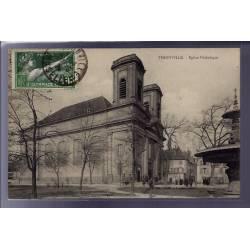 57 - Thionville - Eglise Catholique - Voyagé - Dos divisé