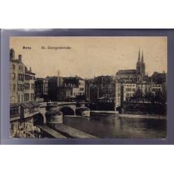 57 - Metz - St Georgenbrücke - Voyagé - Dos divisé