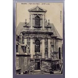 58 - Nevers - Eglise Saint-Pierre XVIIe siècle - Voyagé - Dos divisé