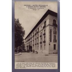 58 - Nevers - Hôtel de France et Grand Hôtel Réunis - Voyagé - Dos divisé