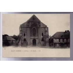 60 - Saint-Germer - L' Abbaye - la façade - Non voyagé - Dos non divisé