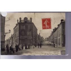 60 - Méru - Faubourg d' Agnicourt et Avenue Victor Hugo - Voyagé - Dos divisé