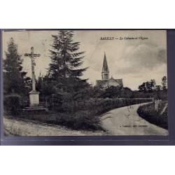 61 - Batilly - Le Calvaire et l' église - Voyagé - Dos divisé