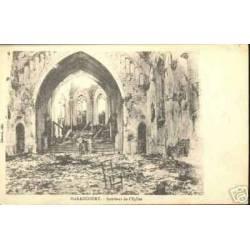 54 - HARAUCOURT - INTERIEUR DE L'EGLISE BOMBARDEE