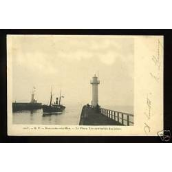 62 - Boulogne - Le phare - Extremites des jetees