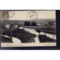 70 - Montbozon - Pont de l' Ognon - Voyagé - Dos divisé