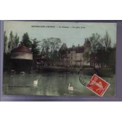 71 - Bresse-sur-Grosne - Le château - la pièce d'eau - Voyagé - Dos divisé