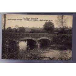 72 - Route de Fresnay à Saint-Leonard - le pont aux Fous - Non voyagé - Dos d