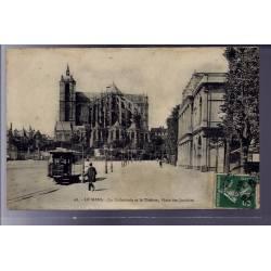72 - Le Mans - La Cathédrale et le Théâtre - Place des Jacobins - Voyagé - Do