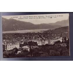 73 - Aix-les-Bains - Vue générale et lac du Bourget - Non voyagé - Dos divisé