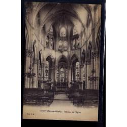 77 - Lagny - Intérieur de l' église - Voyagé - Dos divisé