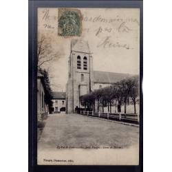 77 - Eglise de Fontenailles près Nangis - Voyagé - Dos non divisé
