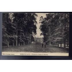78 - Gambais - l' Avenue du château de Neuville - Non voyagé - Dos divisé