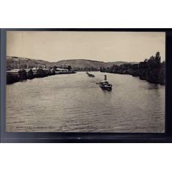 78 - Bonnières - la Seine - vue prise du Pont - Non voyagé - Dos divisé