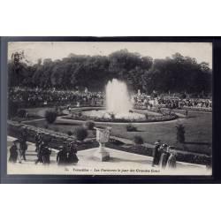 78 - Versailles - les Parterres le jour des Grandes eaux - Voyagé - Dos div