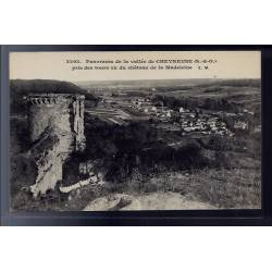 78 - Panorama de la vallée de la Chevreuse - pris des tours vu du château d