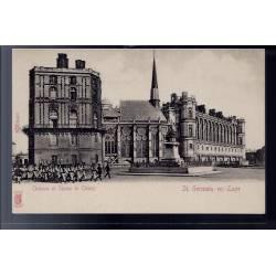 78 - St-Germain-en-Laye - château et statue de Thiers - Non voyagé - Dos no