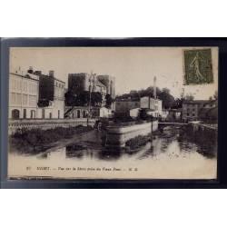 79 - Niort - Vue sur la Sèvre prise du vieux Pont - Voyagé - Dos divisé