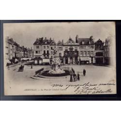 80 - Abbeville - La Place de l' Amiral Courbet - Voyagé - Dos non divisé