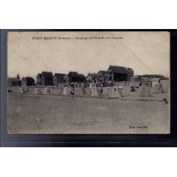80 - Fort-Mahon - La plage et chalets rive gauche - Voyagé - Dos divisé