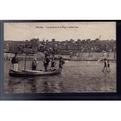 80 - Onival - Vue générale de la plage à marée basse - Voyagé - Dos divisé